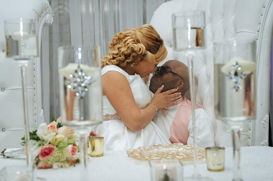 White Kiss Wedding Love Couples Black